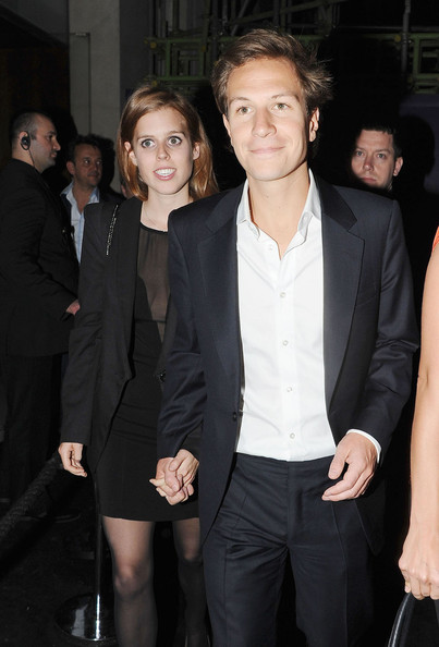 A Royal date! Princess Beatrice and boyfriend Dave Clark leave Nobu in London after an evening out together - 1 of 9