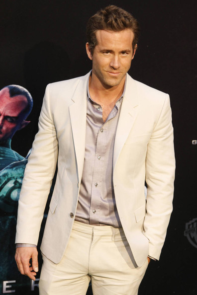 "Ryan Reynolds attends the Spanish premiere of ""The Green Lantern' in Madrid."
