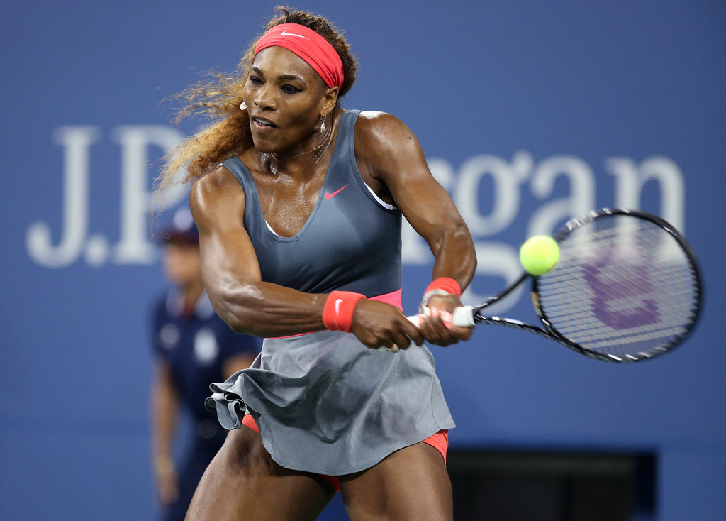 serena williams of usa wins her first round match at