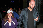 Jenni Rivera and husband Esteban Loaiza spotted at the Lakers game in Los Angeles.