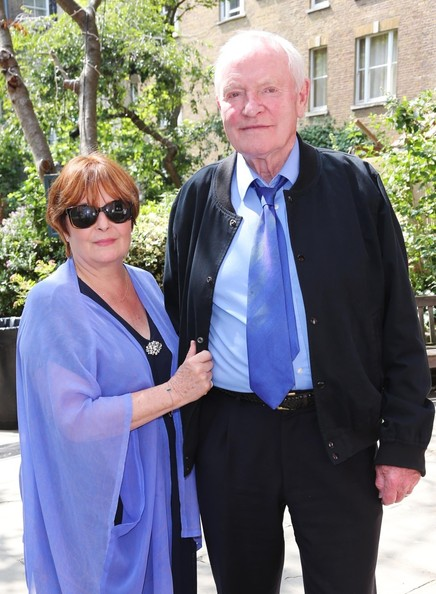 Julian Glover with cool, Wife Isla Blair
