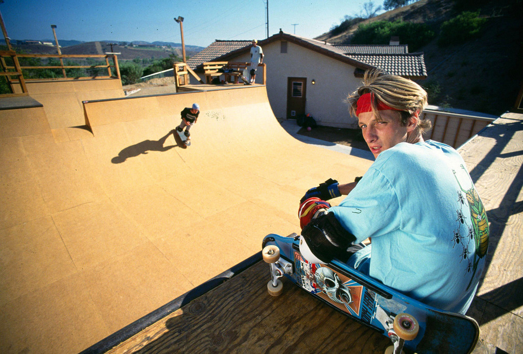 Skateboarder Tony Hawk at 18 in 1986, part of the just released ...