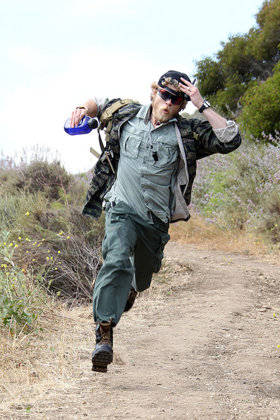 Spencer Pratt Hikes in Malibu Malibu. In This Photo: Spencer Pratt. **EXCLUSIVE** Spencer Pratt, channeling his inner mountain man, deals with the split