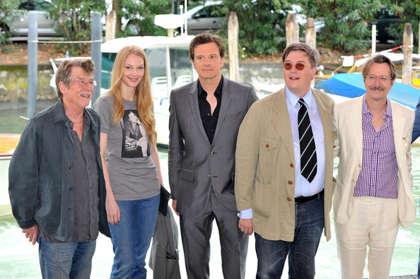 John Hurt, Svetlana Khodchenkova, Colin Firth, filmmaker Tomas Alfredson and Gary Oldman attend the 'Tinker, Tailor, Soldier, Spy' Photocall during the 68th Venice International Film Festival..