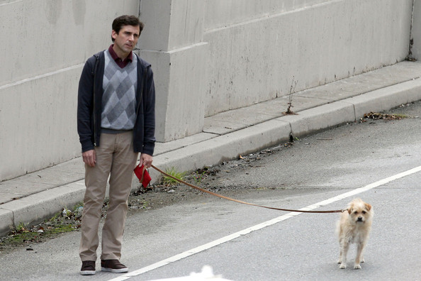 "Steve Carell and Keira Knightley continue work on the set of their upcoming film ""Seeking a Friend for the End of the World"", shooting on location in Los Angeles. While on set, Carell could be see walking a dog on a leash while Knightley tried to hitchhike with an arm full of old records."