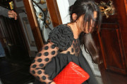 TOWIE stars Cara Kilbey and Frankie Essex seen leaving from 'The Only Way Is Essex' wrap party held at the Cavendish Square, London. Cara who was a little worse for wear was seen taking a tumble on the steps while while leaving from the venue.