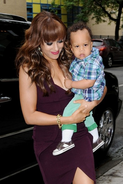 Tia Mowry shows off her adorable baby son Cree as she makes an ...