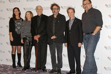 Tim Burton Don Hahn Catherine O'Hara and Tim Burton seen attending a photocall for new animated film 'Frankenweenie' held at the Corinthia Hotel, London