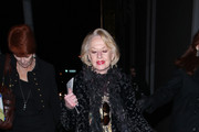 """Tippi Hedren outside the Pantages theater in Hollywood after attending the opening night of """"Avenue Q"""" -the smash-hit Broadway musical about real life in New York City."""