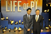 Suraj Sharma and Ang Lee attend the premiere of 'Life Of Pi' held at the Empire Cinema, Leicester Square in London, England.