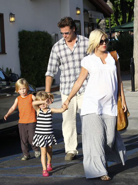 Tori Spelling and Family at the Playground []