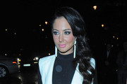 Tulisa Contostavlos enjoys a dinner date with a friend at Nobu in London