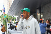 Tyler the Creator of Odd Future arrives at L.A. Live for the 55th Annual Grammy Awards show.