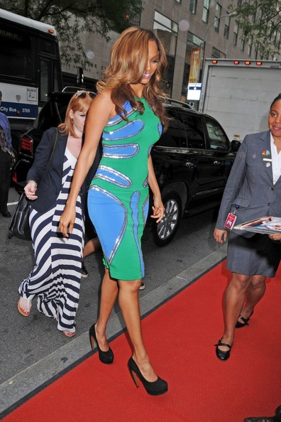 """Tyra Banks arrives to NBC Studios for the """"Late Show With Jimmy Fallon"""" in New York City"""