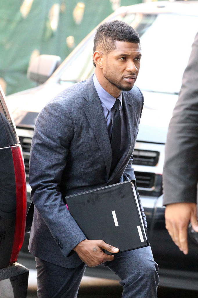 Usher Usher Suits Up in NYC nf2XQxNbsYZx jpgUsher Mohawk Back View