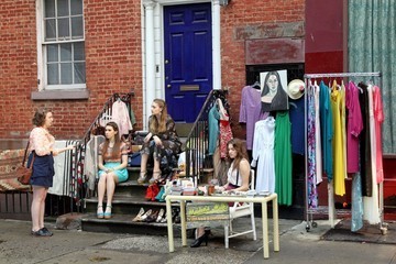 Alison Williams 'Girls' on Set in Soho