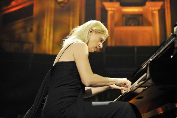 Pianist Valentina Lisitsa performs live in concert at the Royal Albert Hall in  Kensington, London