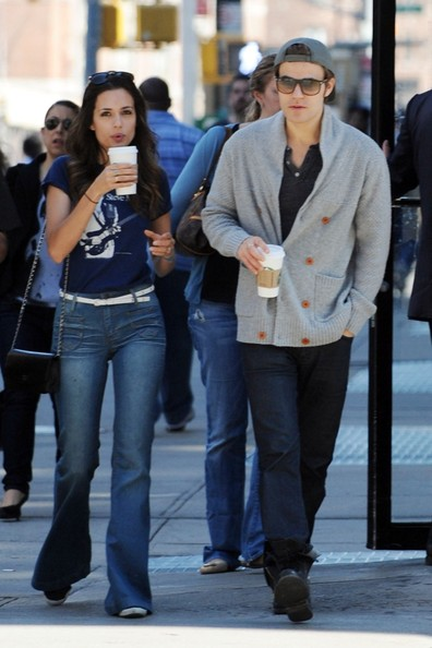 Paul Wesley and Wife in NYC