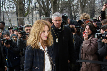 Vanessa Paradis Celebs Arrive at the Chanel Fashion Show