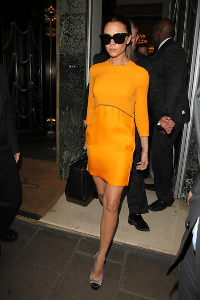 Victoria+Beckham in Victoria Beckham at Claridge's Hotel