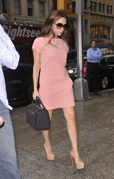 Victoria Beckham Leaves the Four Seasons Hotel