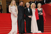Lucy Punch, Josh Brolin, Woody Allen, Naomi Watts, Gemma Jones at the 'You will meet a tall dark stranger' screening during the Cannes Film Festival held at the Palais des Festivals on the famous Croisette.