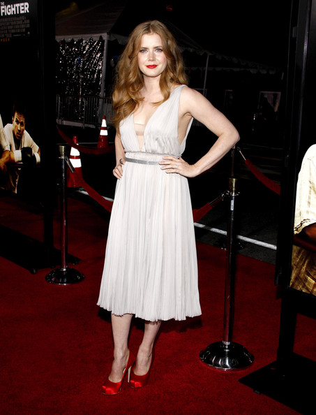 "Amy Adams  on the red carpet at the Los Angeles premiere of ""The Fighter"" held at  Grauman's Chinese Theater, Los Angeles."