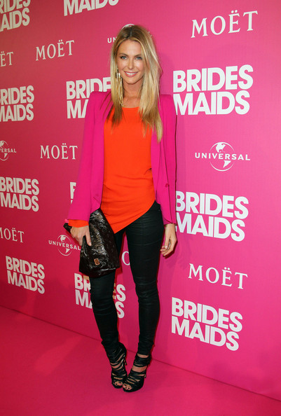 "Jennifer Hawkins hits the red carpet for the premiere of hit comedy ""Bridesmaids"" in Sydney, Australia."