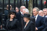 Cherie Blair, Tony Blair, John Major and Norma Major attend Lady Thatcher's funeral at St Paul's Cathedral following her death last week in London.