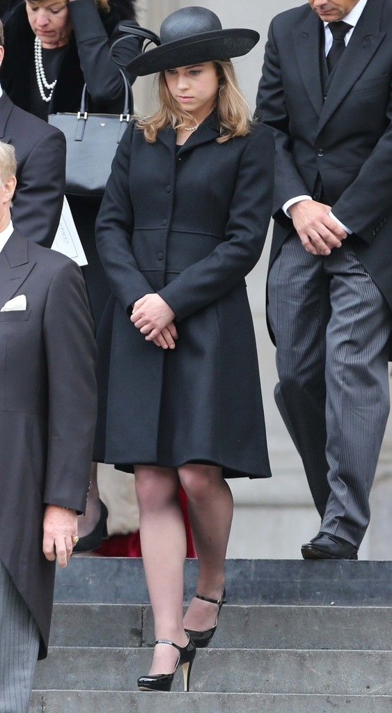 Amanda Thatcher In Ceremonial Funeral Services For
