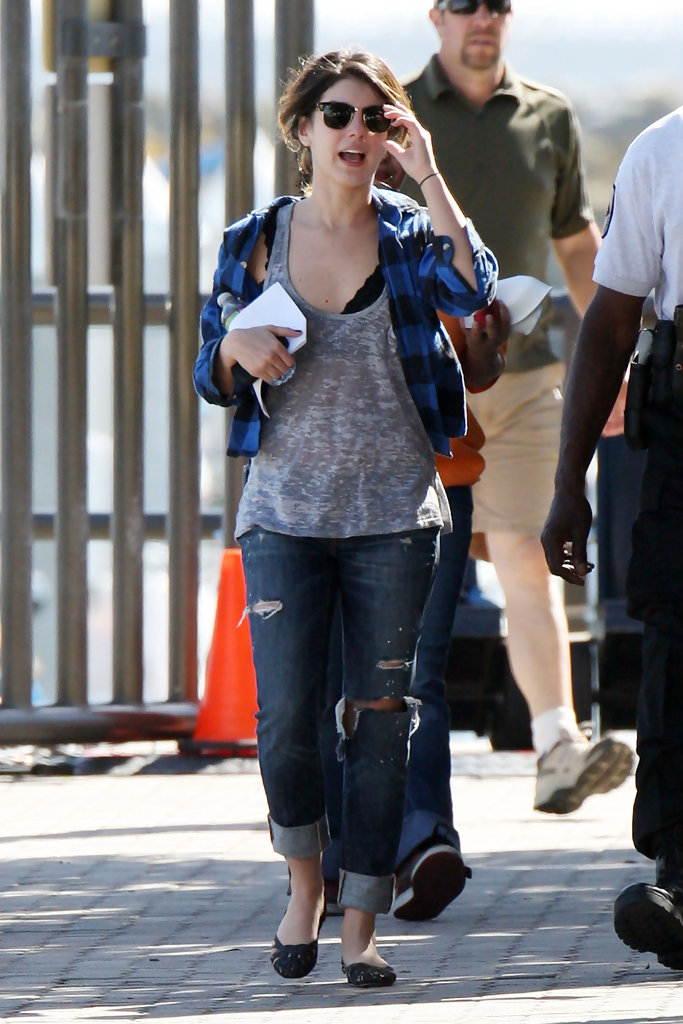 Shenae Grimes on the Set of