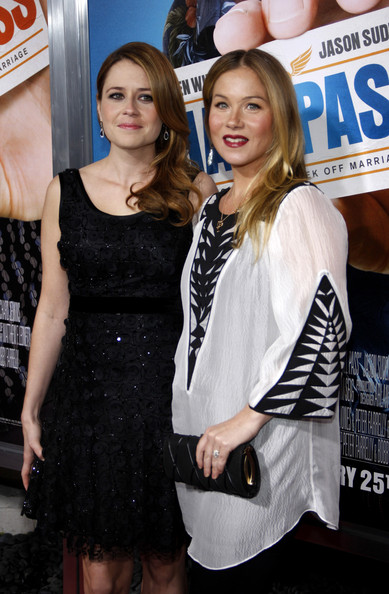 "Jenna Fischer and Christina Applegate at the Los Angeles premiere of ""Hall Pass"" held at the ArcLight Cinemas Cinerama Dome, Los Angeles."