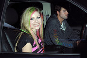 """A happy Avril Lavigne signs autographs for fans after taping an appearance on """"Jimmy Kimmel Live!"""" in Hollywood. After signing autographs, Avril was then picked up by her boyfriend Brody Jenner."""