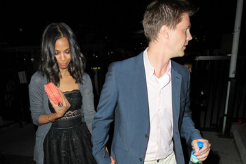 Keith Britton Zoe Saldana Leaves a Party in Cannes