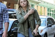 Chloe Grace Moretz Button Down Shirt
