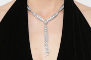Jessica Biel Diamond Chandelier Necklace