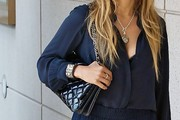 Jennifer Lopez Quilted Leather Bag
