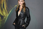 Lily-Rose Depp Leather Jacket