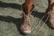 Chanel Iman Lace Up Boots
