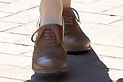 Amanda Michalka Flat Oxfords