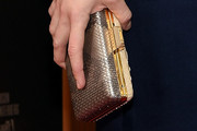 Carey Mulligan Metallic Clutch