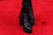 Ashley Rickards Lace Up Boots