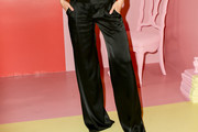 Suki Waterhouse Satin Pants