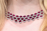 Elle Fanning Gemstone Collar Necklace