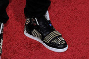 Adam Sevani Leather Sneakers