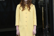 Alice Englert Wool Coat