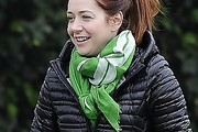 Alyson Hannigan Patterned Scarf
