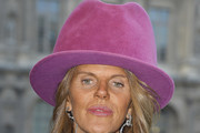 Anna dello Russo Suede Dress Hat