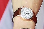 Bill Clinton Leather Band Chronograph Watch