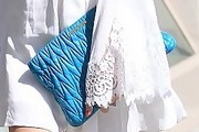 Crystal Reed Quilted Clutch